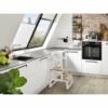 Kép 2/5 - BOMI kétlépcsős konyhai fellépő korláttal - natúr/fehér