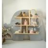 Kép 2/3 - Fa elefánt formájú polc, ezüstszürke Jabadabado