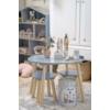 Kép 1/3 - Asztal 2 székkel fából - ezüstszürke