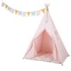 Kép 4/6 - Little Dutch indián sátor szőnyeggel és zászlókkal -rózsaszín