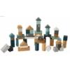 Kép 1/4 - Label Label 50 darabos fa építőkocka szett - menta