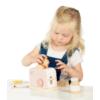 Kép 2/3 - Label Label fa játék kenyérpirító - rózsaszín