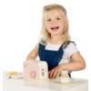 Kép 3/3 - Label Label fa játék kenyérpirító - rózsaszín