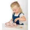Kép 4/5 - Label Label fa teáskészlet - rózsaszín