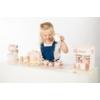 Kép 5/5 - Label Label fa teáskészlet - rózsaszín