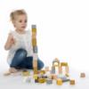 Kép 1/4 - Label Label 50 darabos fa építőkocka szett - sárga