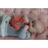 Kép 4/8 - Little Dutch zenélő körforgó natúr fa vázzal - tengeri állatos, pink