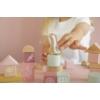 Kép 2/5 - Little Dutch fa építőkocka 50 db - pink
