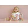 Kép 3/5 - Little Dutch fa építőkocka 50 db - pink