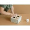 Kép 4/6 - Little Dutch fa formabedobó kocka - olívazöld