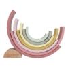 Kép 2/5 - Little Dutch szivárvány építő - pink