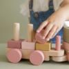 Kép 2/5 - Little Dutch vonat fából - pink