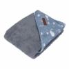 Kép 1/2 - Little Dutch baba fürdőlepedő - óceán kék