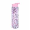 Kép 1/4 - LLC kulacs XL pink csillám