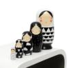 Kép 1/7 - Petit Monkey matrjoska baba fekete-fehér