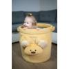 Kép 2/5 - Teddy játéktároló - mustársárga