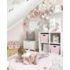 Kép 2/4 - Kör alakú játszószőnyeg fodros - rózsaszín