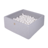 Kép 1/3 - Szögletes labdamedence 200 labdával - White