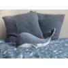 Kép 2/4 - Little Dutch plüss játék bálna - kék 25 cm
