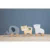 Kép 4/4 - Little Dutch húzható fa játék - elefánt