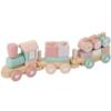 Kép 1/5 - Little Dutch fa játékvonat építőelemekkel - adventure pink