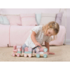 Kép 3/5 - Little Dutch fa játékvonat építőelemekkel - adventure pink