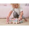 Kép 4/5 - Little Dutch fa játékvonat építőelemekkel - adventure pink