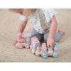 Kép 5/5 - Little Dutch fa játékvonat építőelemekkel - adventure pink