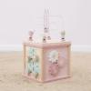 Kép 3/5 - Little Dutch fa készségfejlesztő kocka - adventure pink