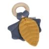 Kép 2/4 - Little Dutch rágóka Pure & Nature - mustársárga / kék