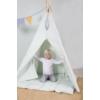 Kép 3/5 - Little Dutch indián sátor szőnyeggel és zászlókkal - menta