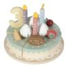 Kép 2/6 - Little Dutch fa játék szülinapi torta