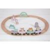 Kép 5/5 - Little Dutch fa játékvonat sínpályával - adventure pink