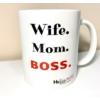 Kép 1/2 - Wife.Mom.Boss bögre