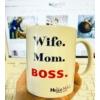 Kép 2/2 - Wife.Mom.Boss bögre