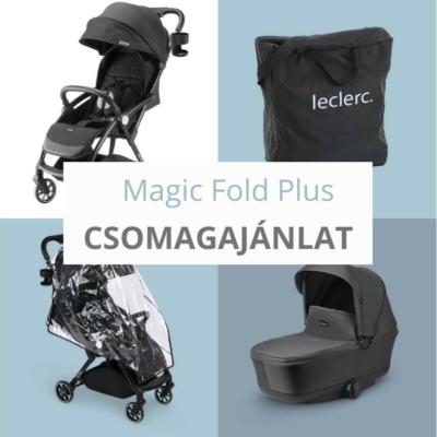 Leclerc Magic Fold Plus babakocsi szett csomag - Black