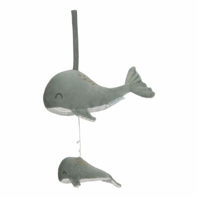 Little Dutch felhúzható & zenélő bálna - menta