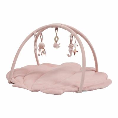 Little Dutch játszószőnyeg játékhíddal - tengeri állatos, pink