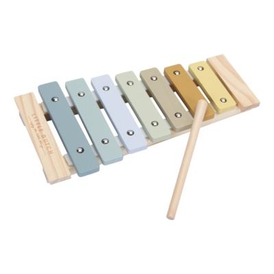 Little Dutch fa játék xilofon gyerekeknek - kék