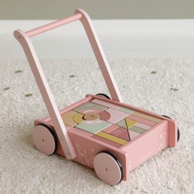 Little Dutch fa járássegítő építőelemekkel - pink