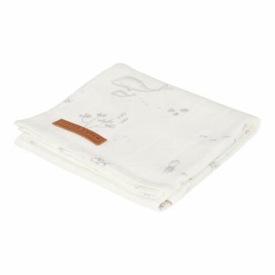 Textilpelenka 120 x 120 cm - fehér óceán