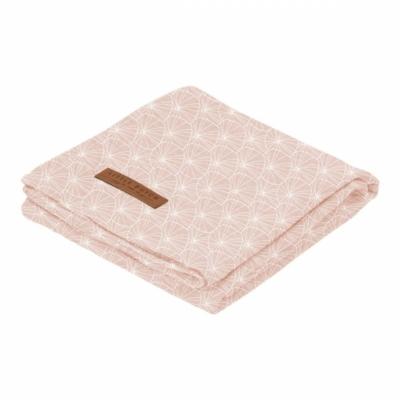 Textilpelenka 120x120 cm - lils leaves pink