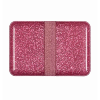 ALLC uzsonnás doboz csillámos pink