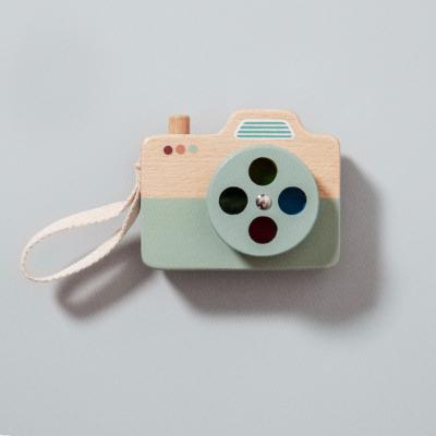 Petit Monkey fa játék fényképezőgép - kék