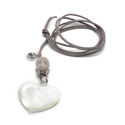 Proud Mama kismama nyaklánc - Murano Heart ezüst