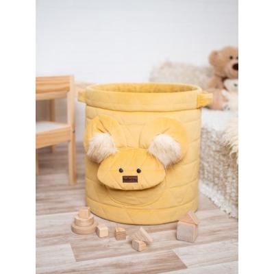 Teddy játéktároló - mustársárga