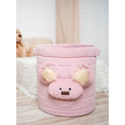 Teddy játéktároló - rózsaszín