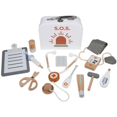 Tryco fa játék orvosi szett táskában