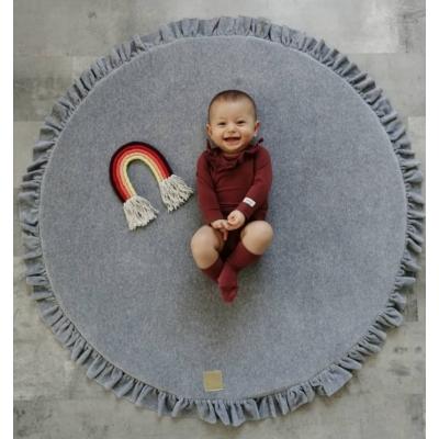 Kör alakú játszószőnyeg fodros - szürke