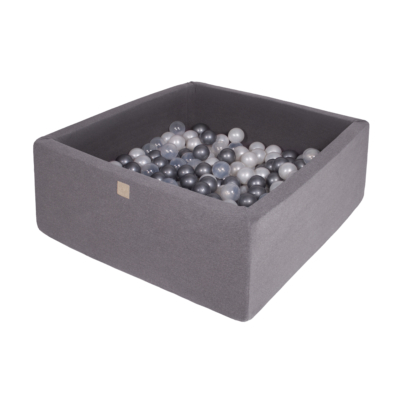 Szögletes labdamedence 200 labdával - Silver